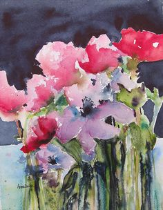 Floral Painting - Repose by Anne Duke