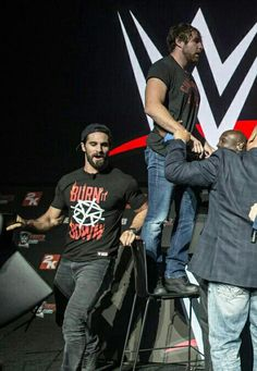 Seth rollins and dean ambrose Dean Ambrose Seth Rollins, Wwe Dean Ambrose, Wwe Seth Rollins, Seth Freakin Rollins, Renee Young Wwe, The Shield Wwe, Burn It Down, Lucha Underground, Sasha Bank