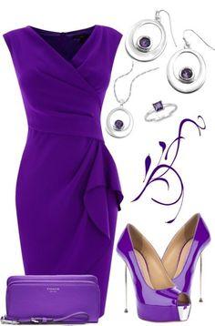 The most amazing purple fashion. I heart it! Komplette Outfits, Fashion Outfits, Womens Fashion, Casual Outfits, Purple Fashion, Look Fashion, Simply Fashion, Mode Style, Purple Dress