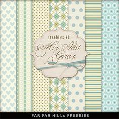 Far Far Hill: New Freebies Kit of Backgrounds - Mon Petit Garçon