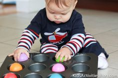 Games for Baby: Muffin Tin Fun - Kids Activities Blog