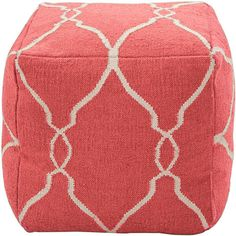 Soho Dhurrie Cube Pouf Ottoman 8 colors!