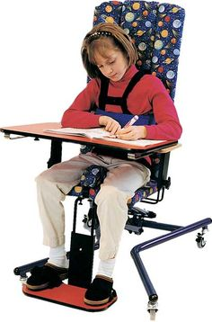The Updown Chair: The Up Down Chair is used for optimal positioning and sitting comfort for table top or floor activities.
