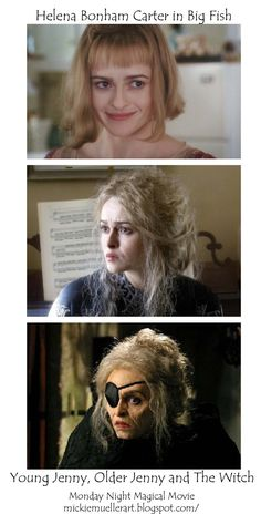 Helena Bonham Carter:  transformation in the movie BIG FISH.
