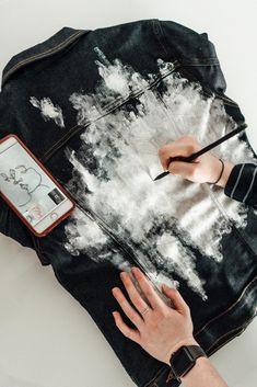 Раскрашенные Джинсы, Мужские Джинсовые Куртки, Джинсовые Куртки, Переделка Одежды, Модная Одежда, Переработанная Одежда, Одежда Своими Руками, Роспись По Ткани, Одежда Своими Руками
