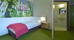 Barrierefreies Zimmer im B&B Hotel Ingolstadt