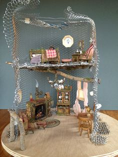 Tutorial: For the amazing weeping cherry Fairy House Tree by Torisaur