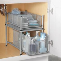 Under bathroom sink organization. Why didn't I think of this before on office supplies for bathrooms, lamps for bathrooms, doors for bathrooms, storage benches for bathrooms, shelves for bathrooms, fans for bathrooms, furniture for bathrooms, windows for bathrooms, storage solutions for bathrooms, accessories for bathrooms, mirrors for bathrooms, rugs for bathrooms, baskets for bathrooms, storage containers bedrooms, paper towels for bathrooms, trash cans for bathrooms, signs for bathrooms, racks for bathrooms, storage units for bathrooms, pallets for bathrooms,