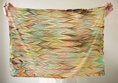 Make your own marbled scarf.