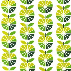 Lemon Lime  Apple Slices Green from the To Market To Market fabric collection by Print & Pattern for Robert Kaufman Fabrics.