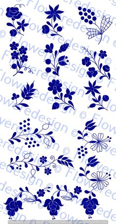 033. Digital flower motif  kalocsai flower motif old