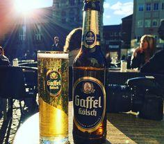 Enjoying a #gaffel #kölsch in #Cologne #germany with @janniesssss #bier #deutschland #köln