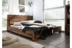 Masivní indický palisandr, postel 140x200 BROWN STYLE #135 Wood Beds, Bed Furniture, Boy Room, King Size, Solid Wood, Woodworking, Brown, Interior, Home Decor