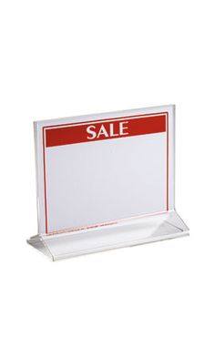 Acrylic Top Loading Sign Holders $2.25 each