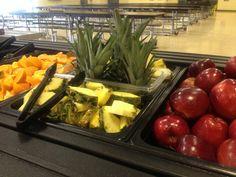 Fresh fruit bar at West School