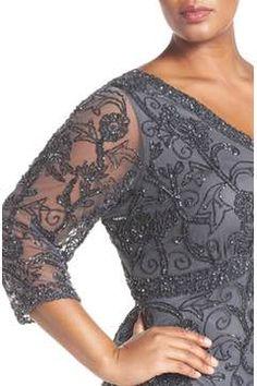 Alternate Image 4  - Pisarro Nights Embellished Double V-Neck Midi Dress (Plus Size)