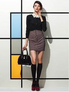 ハイウエストチェックスカート♡トレンドのハイウエスト。秋冬のハイウエストファッションコーデ術を集めました!