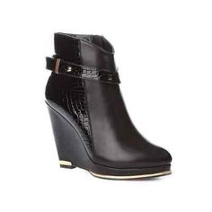 LADIES & WOMEN NEW ANKLE BOOTS HIGH WEDGE HEEL SIZE 2-6.5 UK