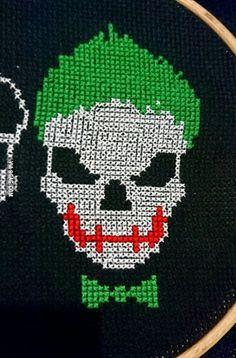 Suicide Squad Joker cross stitch