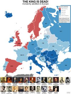 Map of monarchy in European history History Timeline, History Facts, European History, World History, History Class, Alternate History, European Countries, Historical Maps, Country