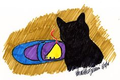 Daily Sketch Reprise: Mousie in My Shoe, What Am I To Do? 2014
