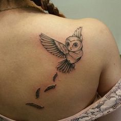 39 Fantastic Small Owl Tattoos - Owl patterns are sought-after due to their beauty and the wide range of areas of the application. Recently, small owl tattoos have become extremely voguish.    1. It has been proved that one of the main connotations …