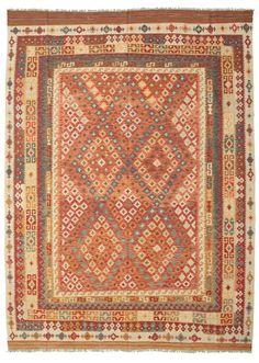 Kelim Afghan Old style matta 252x345
