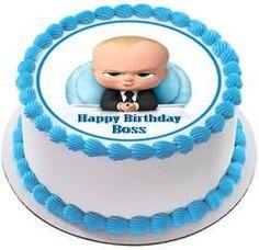 The Boss Baby Edible Birthday Cake Topper OR Cupcake Topper, Decor