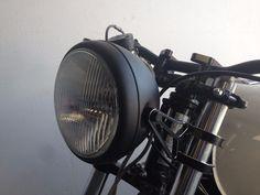 "8"" motorcycle headlight H4  street fighter black 250 300 ninja ex300 ex250 cafe #SpeedMotoCo"