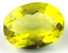 1 Pcs Natural Lemon Quartz Oval 34x26mm 90Cts Normal Cut Handmade Loose Gemstone