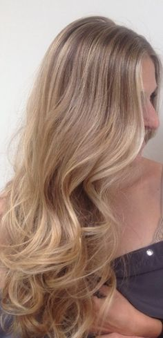 Natural blonde highlights. Visit my page for health and hair tips: http://kat-walk.net/