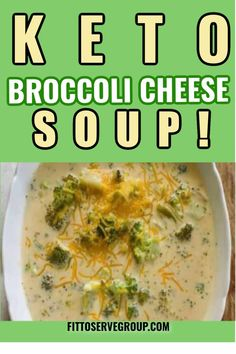 Enjoy a recipe for keto broccoli cheese soup that is made easily in a slow cooker. It's a hearty soup thickened only with cheese and is a satisfying comfort soup that's perfect for the entire family. keto broccoli cheese soup |keto soup |Keto slow cooker soup |low carb broccoli cheese soup| low carb soup| Keto soups| low carb soups #ketobroccolicheesesoup