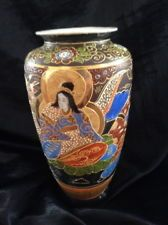 Beautiful Heirloom Asian Hand Painted Antique Japanese Vase