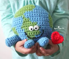 Meet Globie! He's a happy, squishy, cuddly, and soft crochet planet Earth! Earth Day is April 22nd and Globie wants to teach everyone about environmental protection. Get the kids (and adults) informed and excited about taking care of our land by using this sweet little guy as a prop. Keep in mind though that despite my …