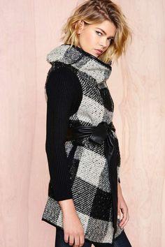 Stockholm Plaid Wrap Coat | Shop Jackets + Coats at Nasty Gal