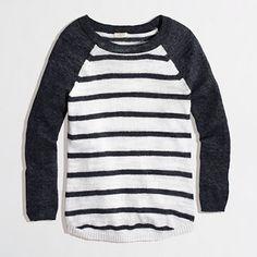 stripe baseball sweater / j.crew factory
