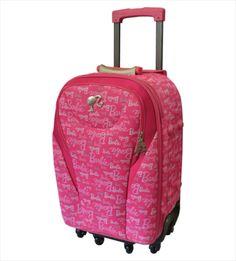 Mala de Viagem Primicia Barbie Classic Pink,  linda e delicada a mala é cheia de adereços que vão deixar você ainda mais encantada com o modelo.Além de acompanhar cadeado com segredo e etiqueta de identificação em todas as malas.