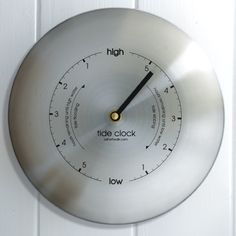 Sleek and elegant, the stainless steel tide clock from AShortWalk is one of Metcheck's favourite products. Ideal for any beach house, coastal kitchen or garden. Tide Clock, Time And Tide, Father Time, Home Decor Online, High Tide, Brushed Stainless Steel, Home Signs, Coastal Living, Coupon Codes