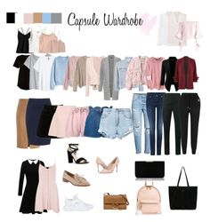 """Capsule wardrobe"" by septriana-diaz on Polyvore featuring ATM by Anthony Thomas Melillo, H&M, MANGO, MaxMara, Zizzi, BLANKNYC, RED Valentino, Boohoo, Valentino and Nobody Denim"