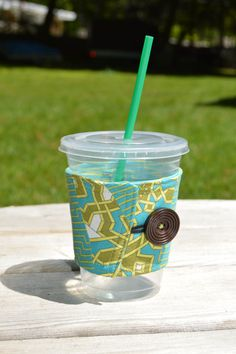 Mug sleeve! https://www.etsy.com/listing/234478699/green-geometric-mug-sleeve