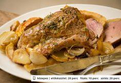 Mézes-mustáros sertésszűz almával | NOSALTY – receptek képekkel Chow Mein, Menu Planning, Main Dishes, Curry, Paleo, Pork, Fish, Food And Drink, Chicken