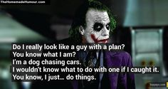 Movie Dialogues joker guy with a plan