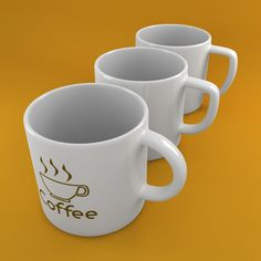 Coffee Tea Cup 002 3D Model- Three High quality 3d Coffee/Tea Cup or Mug.  Studio Setup in Vray or Mental Ray for instant use.    357 polygons by items !  Coffee Sign Map Included !    Formats:  - .max V-Ray : With UVs and materials for V-ray 2.4  - .max Mental Ray : With UVs and materials for Mental Ray  - .fbx : With UVs - Without materials  - .obj : With UVs - Without materials    UVs Templates images are provided in MapsUvs archive.    Enjoy !    All sample images are rendered with Vray…