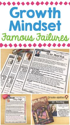 This pack includes 20 individuals from around the world who have experienced failure, fostered a growth mindset, and found success. There is a reading passage and poster for each person describing their failure and what they learned. There are also response pages for your students to write and reflect. It's perfect for your 2nd, 3rd, 4th, 5th grade and home school students. Display posters on your wall or bulletin board {second, third, fourth, fifth graders, upper, upper elementary}