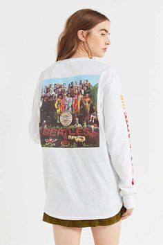 Junk Food Beatles Lonely Hearts Long Sleeve Tee   Urban Outfitters