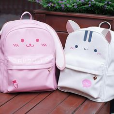 Cute Cats Rabbit Ear Girl Fashion Travel Bag Satchel School Shoulder Backpack in Clothing, Shoes & Accessories, Women's Handbags & Bags, Backpacks & Bookbags Cat Backpack, Diaper Bag Backpack, Diaper Bags, Travel Backpack, Satchel Backpack, Shoulder Backpack, Kawaii Bags, Kawaii Clothes, Kawaii Accessories