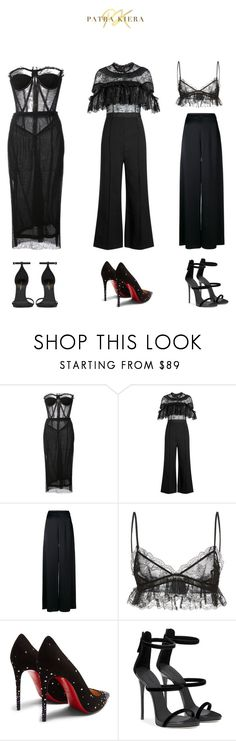 """Untitled #23"" by patrakiera on Polyvore featuring Dolce&Gabbana, self-portrait, Temperley London, Giambattista Valli, Christian Louboutin and Yves Saint Laurent"