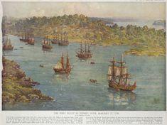 The First Fleet in Sydney Cove January 27 1788 ..John Allcott..Nat. Lib Aust