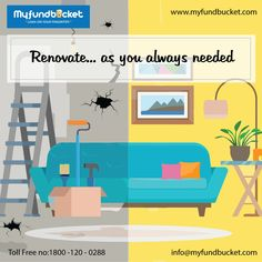 Get #personal #loan for home renovation Apply: https://www.myfundbucket.com/personalLoan Toll free - 1800 1200 288 #Digital #bestoffer #Mum