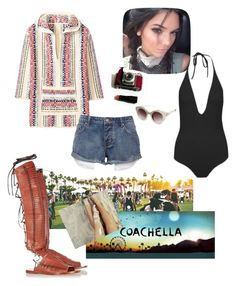 """COACHELLA"" by fatjona9 ❤ liked on Polyvore featuring Tory Burch, Kendall + Kylie, festival, coachella, jenner and kendalljenner"